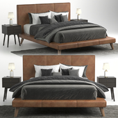 Mod Leather Bed Bed West Elm