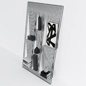 Shelf and docorative set