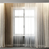 A set of transparent tulle for the interior