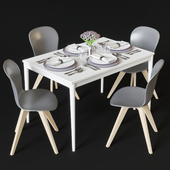Dining table and chairs BoConcept Torino and Adelaide
