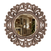 Wall Mirror With Modern Palm Silver