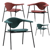 GUBI Masculo Chair with steel and base 4 legs