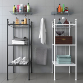 Стеллаж IKEA RONNSKAR с декором