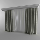 Linen curtains and cornice Orac Decor