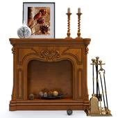 Decorative fireplace with accessories Stilars