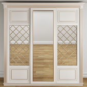 Sliding wardrobes in neoclassic style