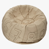 RH Recycled Canvas Number Bean Bag