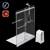"Kit with shower door ""Levity"" (KOHLER)"