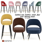 Collins set.Collins chair, Bar and dining chair