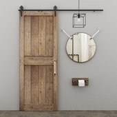 Decorative elements in the style of LOFT for bathrooms