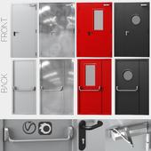 Metal fire doors, 4 colors