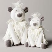 Wooly plush polar bear