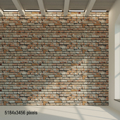 Brick wall. Old painted red brick 35
