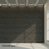 Brick wall. Dark brick. 36
