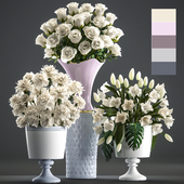 Collection of flowers 58. White bouquets.