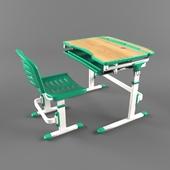 Регулируемая парта и стул для детской FunDesk Sorriso