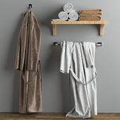 Bathrobes and towels