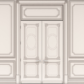 Provence double doors with panels