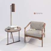 Dale Italia T-101 Chair with table LUCIGNOLO