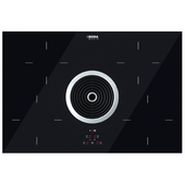 Induction hob with integrated extractor
