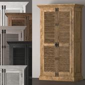 SHUTTER DOUBLE-DOOR CABINET 61010157_WHT