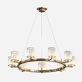Geoffrey 36 Round Wood Chandelier