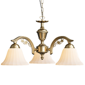 Edgewood Antique Brass Three Light Pendant Light