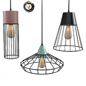 Conctere Black Wire Shade Hanging Pendant Lighting