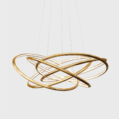 Pendant Lamp Saturn LED Gold Big
