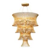 Tiered Modern Designer Gold Plated Italian Chandelier