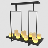 Потолочный светильник Altar с плафонами в виде свечей