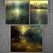 Paintings abstract   set 200