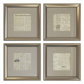 10 frames with newspaper clippings. Set 01.