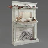 provence decorative fireplace
