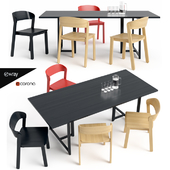 Pur Chair and Seleri table