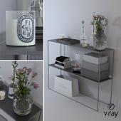 "Decorative set ""Black and White"""
