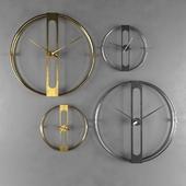 Настенные часы Clip Gold Ø107cm - Kare design 60974