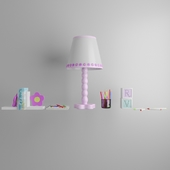 set for children's room with lamp