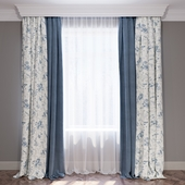 Set of curtains (4 curtains and tulle) in the style of Provence 04.