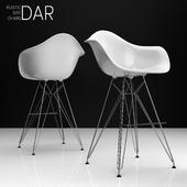 Eames DAR Bar plastic side chairs