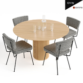 Elettra Chair and Palais Royal dining table