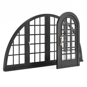 Set of arched doors and windows