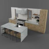 Hygge wood kitchen