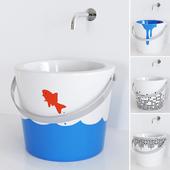 Washbasin Scarabeo Ceramiche Bucket art.8803