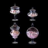 CYS Glass Candy Buffet Jar and Marshmallow