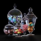 CYS Glass Candy Buffet Jar and Macaroons