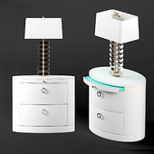 Hastings Nightstand and Ferris Lamp