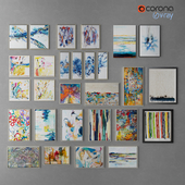 Collection of modern paintings horchow - 7