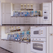 Kitchen with majolica