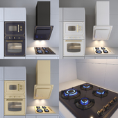 Kitchen appliances in neoclassical style